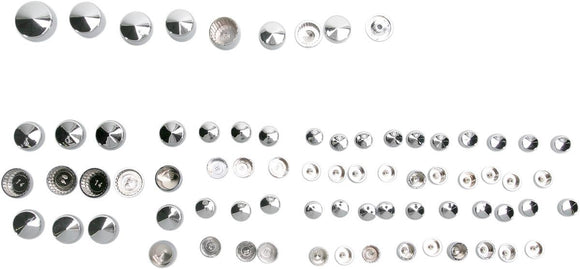 Drag Specialties Bolt Cover Kit Standard Chrome - Part #24010714 - Hogparts UK