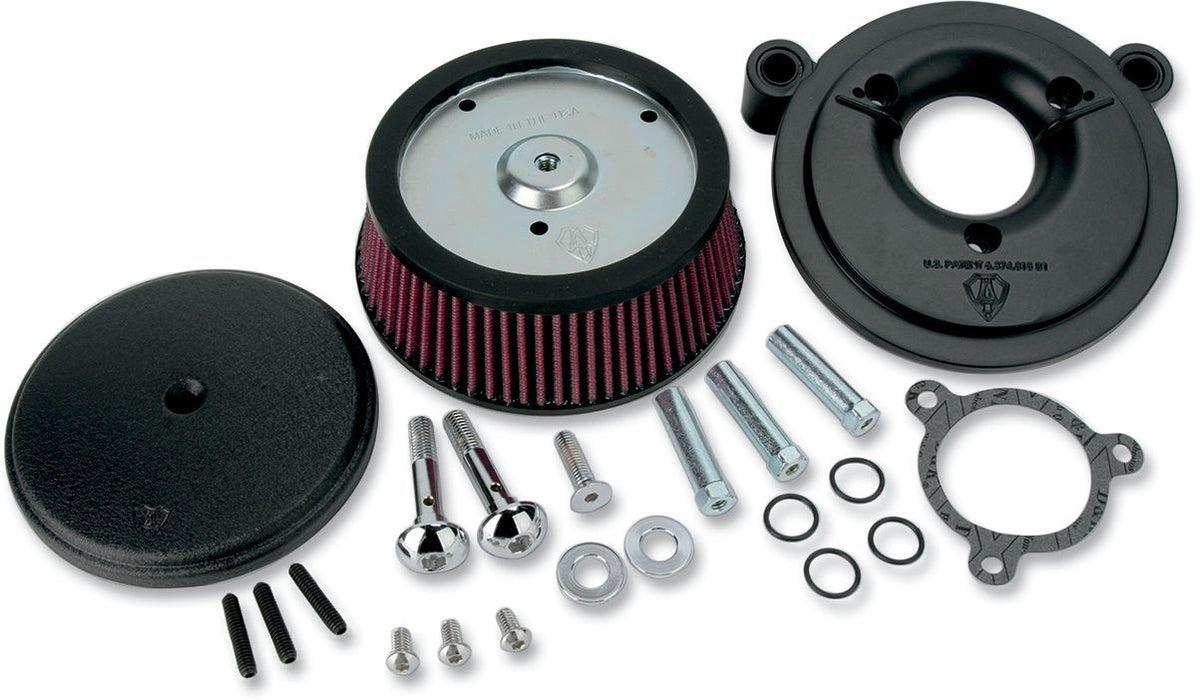 Arlen Ness Air Filter Kit Big Sucker Stage 1 With Standard Air Filter Smooth Black - Part #10100874