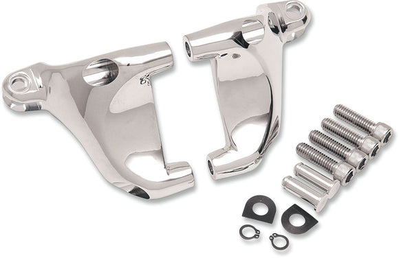 Drag Specialties Passenger Footpeg Mount Kit Chrome - Part #16200363 - Hogparts UK
