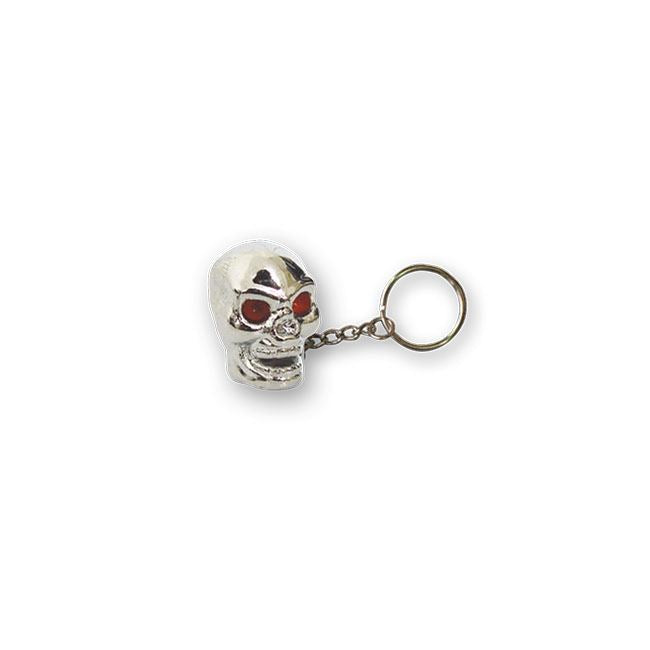 TRIKTOPZ SKULL KEY CHAIN CHROME - <br><br>Part #555601 - hogparts-uk.myshopify.com