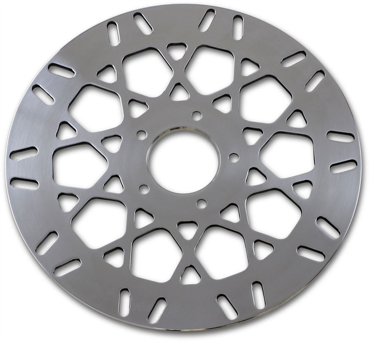 "Drag Specialties Front Brake Rotor Mesh Stainless Steel 11.5"" Polished - Part #17102025 - Hogparts UK"