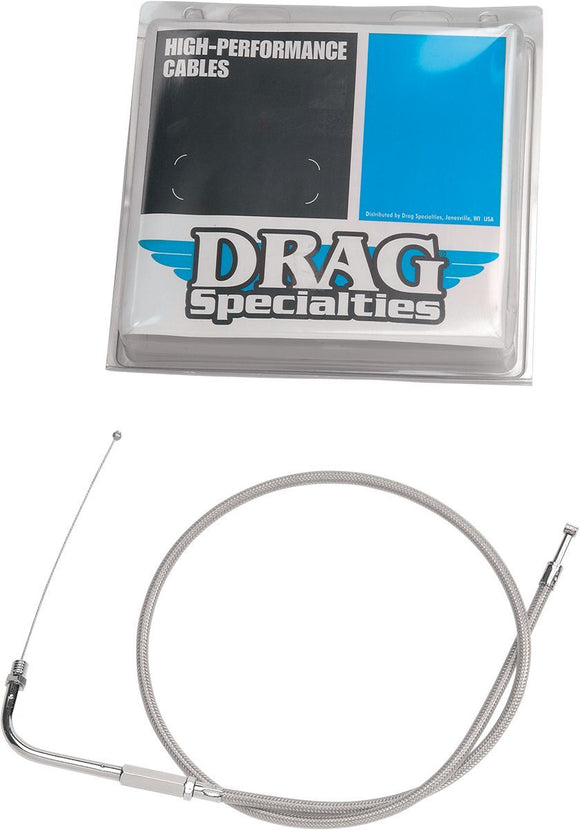 Drag Specialties Throttle Cable Stainless Steel 32.5