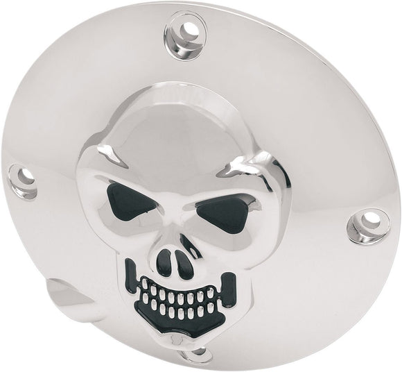 Drag Specialties Derby Cover Skull Chrome - Part #11070034 - Hogparts UK