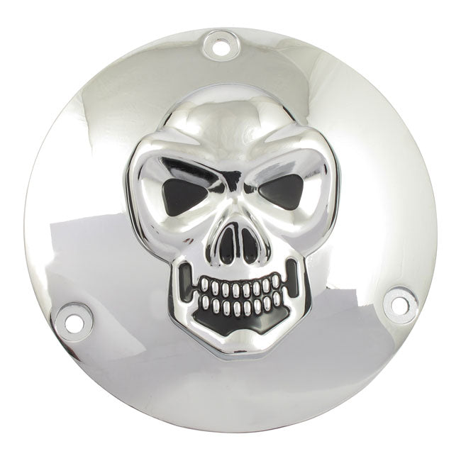 Motorcycle Storehouse Chr Skull Derby Cover 3-Hole - 70-98 Big Twin #500578