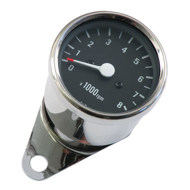 Motorcycle Storehouse Mini Tachometer, 2:1 Ratio - 54-80 XL, K; 61-69 FL (With Mech. Tach Drive) #502575