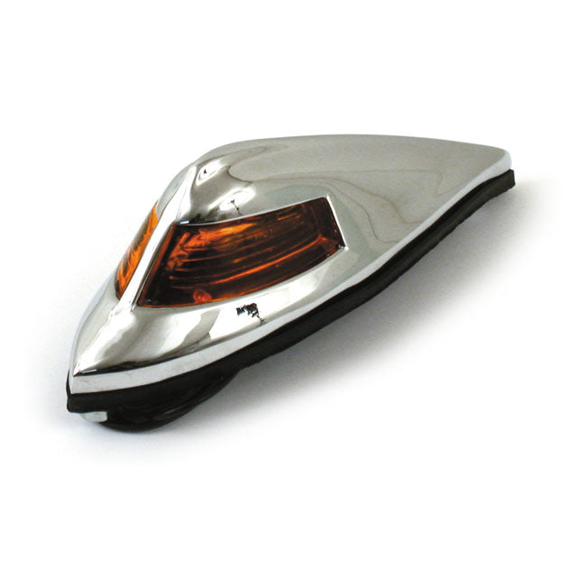 Motorcycle Storehouse Antique Style Front Fender Light, Amber - 65-84 FL, 86-Up FLST #514350