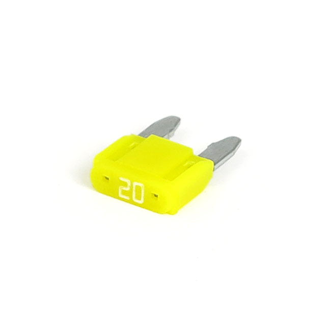 Motorcycle Storehouse Mini Fuse With Led, 20 Amp, Yellow - Universal #515991