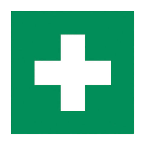 GM GREEN CROSS STICKER - 100X100MM - Part # 536503