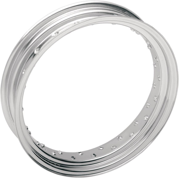 Drag Specialties Rim 16X3.5 40-Spoke Steel Chrome - Part #02100020 - Hogparts UK