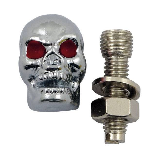 Trik Topz license plate mounts Skull chrome Universal - Part # MCS555952