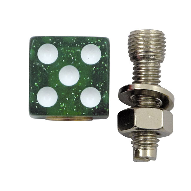 Trik Topz license plate mounts Dice green glitter Universal - Part # MCS555971