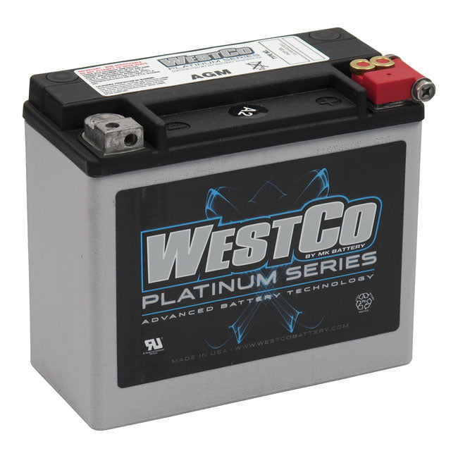 WESTCO, AGM BATTERY, 12V, 18AMP, 310CCA 97-20 Softail; 97-17Dyna; 97-03XL; 07-17V-Rod (excl. 2007 VRSCR); Buell S1, S3, ST, M2, X1 - Part # MCS558013