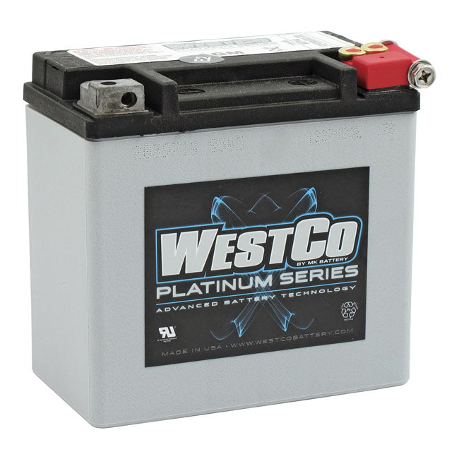WESTCO, AGM BATTERY. 12V, 12AH 200CCA 04-20 XL; 08-12XR1200; 14-20 XG750/500 Street; 17-20 XG 750A Street Rod ; 08-10Buell 1125R/CR - Part # MCS558016