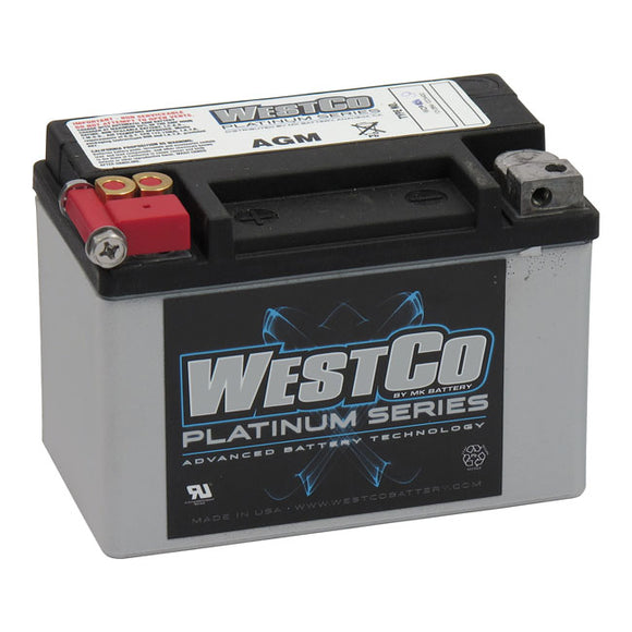 WESTCO, AGM BATTERY, 12V, 8AMP, CCA120 UNIV. - Part # MCS558019