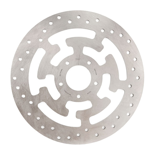 Brake rotor spoke, front left 15-20 Softail (excl. FXSE); 06-17Dyna (excl. FXDLS); 08-20 Touring; 09-20 Trike; 14-20 XL. (Cast & laced wheels) - Part # MCS576924