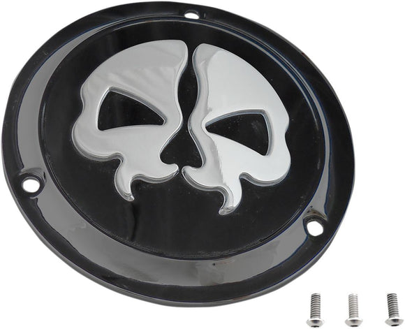 Drag Specialties Cover Derby Split Skull 3-Hole Black - Part #11070549 - Hogparts UK