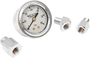 "Drag Specialties Oil Pressure Gauge 1.75"" 60Lb. White Face - Part #DS244113 - Hogparts UK"