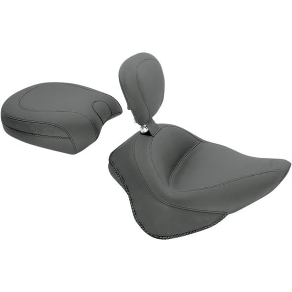 Wide-Style Solo Seat with Removable Backrest - Part #08020765 - hogparts-uk.myshopify.com