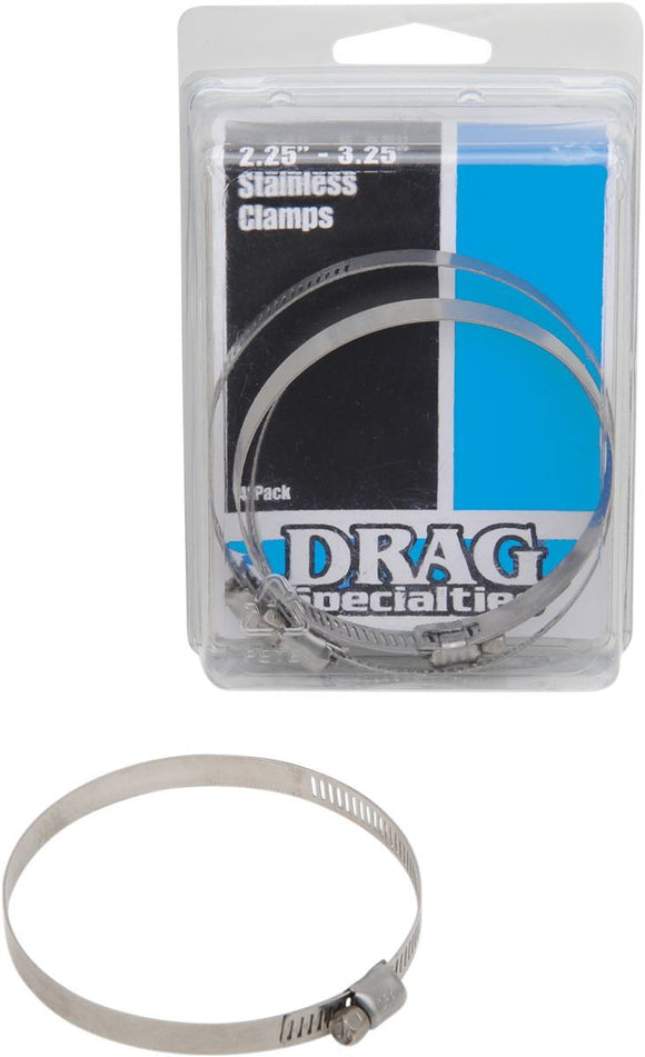 Drag Specialties Stainless Steel Exhaust Clamp 2.25-3.25