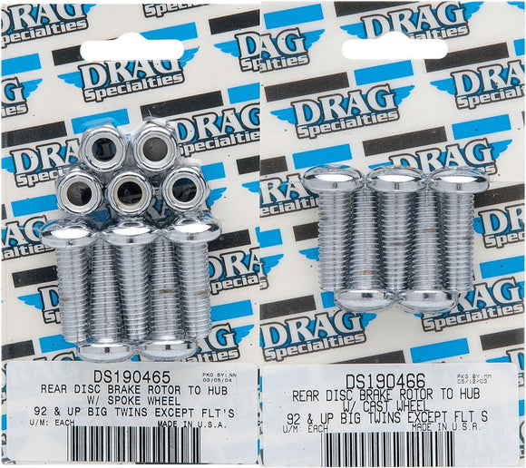 Drag Specialties Rear Brake Disc Bolt Kit - Part #DS190465 - Hogparts UK