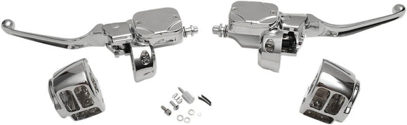 Drag Specialties Handlebar Control Kit With Hydraulic Clutch Chrome - Part #06100693 - Hogparts UK