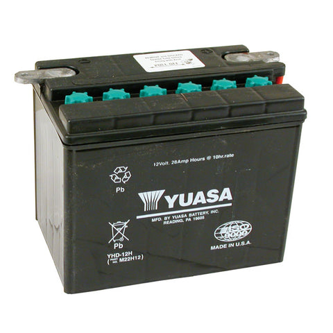 YUASA BATTERY 12V 28A - 65-84 FL; 67-78 XL  - Part # 901024