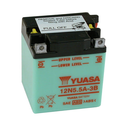 YUASA BATTERY, 12V 5.5A - MULTIFIT - Part # 901028