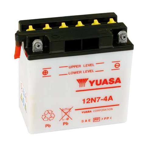 YUASA BATTERY 12V, 7A - 70-78 XL; 71-78 FX (KICKSTART MODELS) - Part # 901032