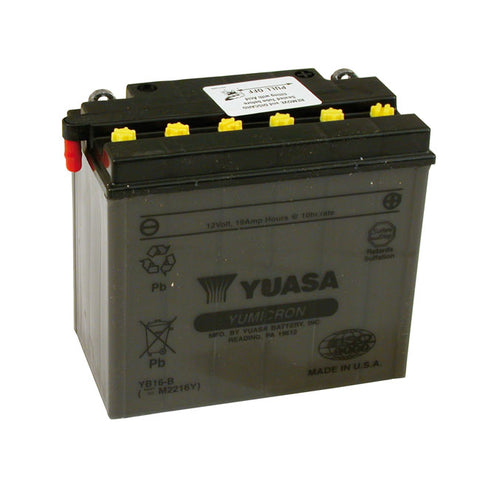 YUASA BATTERY YUMICRON 12V 19A - 73-86 FXE; 82-94 FXR; 84-90 SOFTAIL; 79-96 XL - Part # 901057