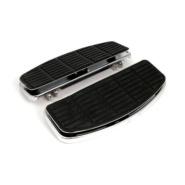 Motorcycle Storehouse Rectangular Late Style Floorboards - 86-17 FL Softail; 80-17 FLT/Touring #904020