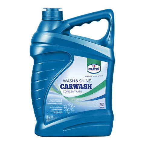 WASH & SHINE CARWASH 5L - CONCENTRATED 5L=500L, SYNTHETIC SHAMPOO, SAFE FOR LACQUER, RUBBER, PLASTIC AND CHROME - Part # 904093