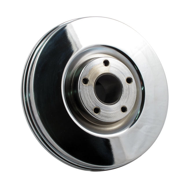 Motorcycle Storehouse Brake Drum Front, Chrome - FL 67-71 #908255