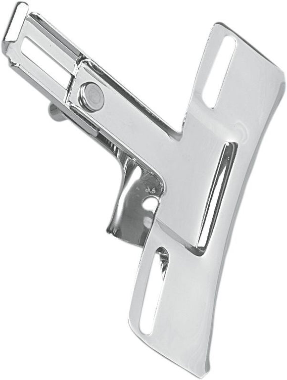 Drag Specialties Replacement License Plate Bracket Adjustable Chrome - Part #DS193810 - Hogparts UK