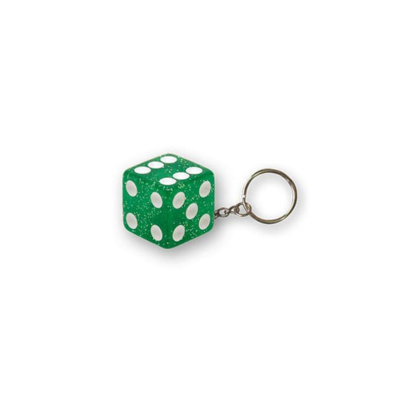 TRIKTOPZ DICE KEY CHAIN GREEN GLITTER - <br><br>Part #555535 - hogparts-uk.myshopify.com