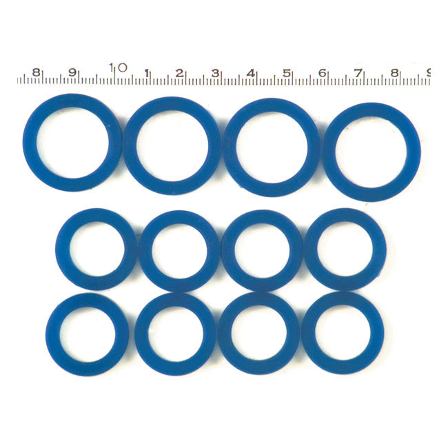 Motorcycle Storehouse Blue Silicone Pushrod Seal Kit - 48-E79 Big Twin #970487