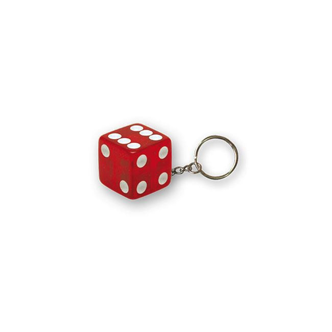 TRIKTOPZ DICE KEY CHAIN CLEAR RED - <br><br>Part #555526 - hogparts-uk.myshopify.com