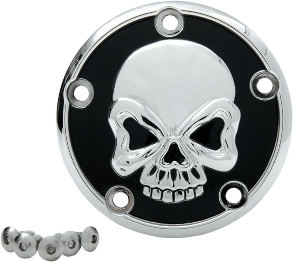 Drag Specialties Point Cover Skull 5-Hole - Part #09401179 - Hogparts UK