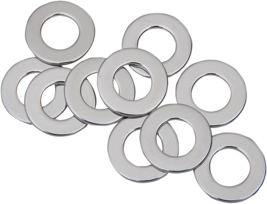 "Drag Specialties Flat Washer 0.53125""I.D. 0.0625"" Thickness Chrome - Part #DS192391 - Hogparts UK"