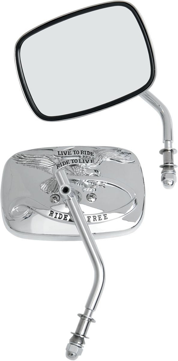 Drag Specialties Mirror Live-To-Ride Chrome - Part #06400475 - Hogparts UK