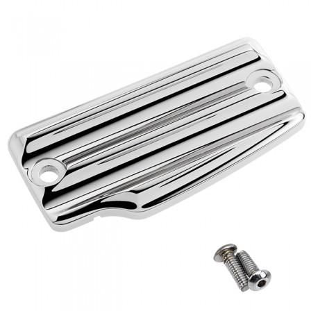 Joker Machine Rear Master Cylinder Cover Finned Chrome <br>Vendor Part # 30-390-3