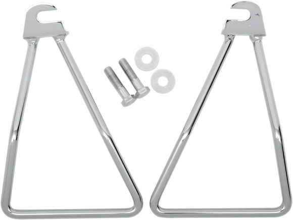 Drag Specialties Saddlebag Support Bracket Single Bolt Mount Chrome - Part #DS110854 - Hogparts UK