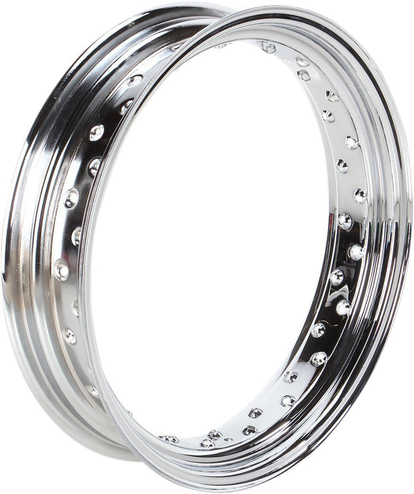 Drag Specialties Rim 18X3.50 40-Spoke Steel Chrome - Part #02100022 - Hogparts UK