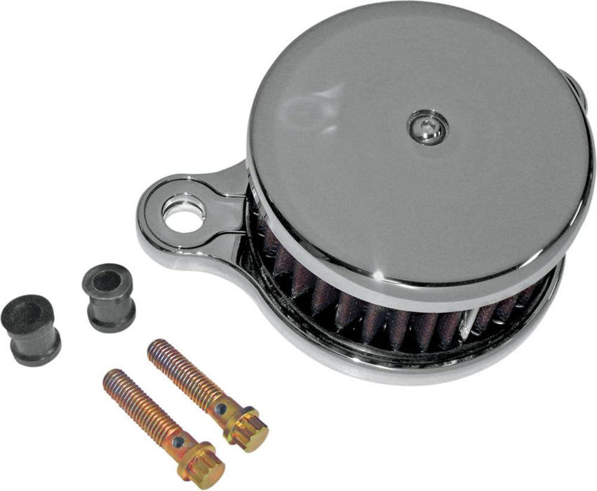 Joker Machine High Performance Air Cleaner Assembly Round Smooth Chrome <br>Vendor Part # 10-201C - hogparts-uk.myshopify.com