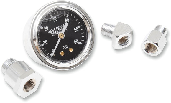 Drag Specialties Oil Pressure Gauge 1.75