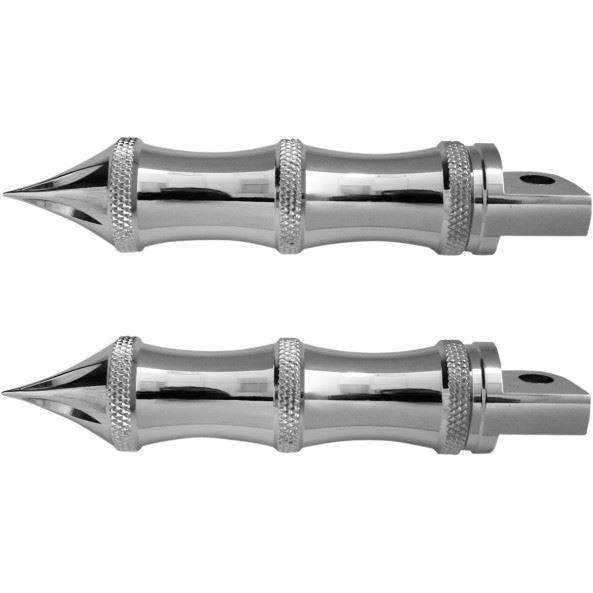 Accutronix  Foot Pegs Tribal Folding Chrome - Part #118446 - Hogparts UK