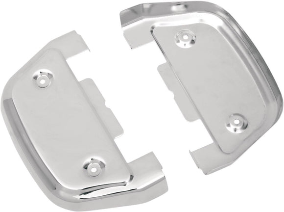 Drag Specialties Passenger Floorboard Covers Chrome - Part #16210123 - Hogparts UK