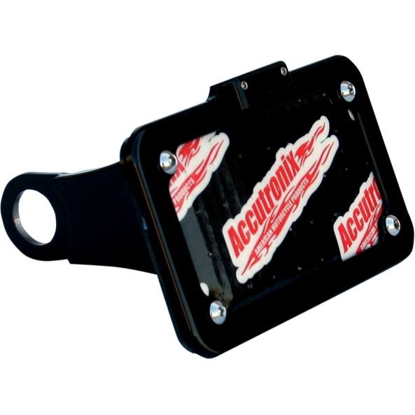 Accutronix  License Plate Side Mount Black Hd Sportster - Part #125298 - Hogparts UK
