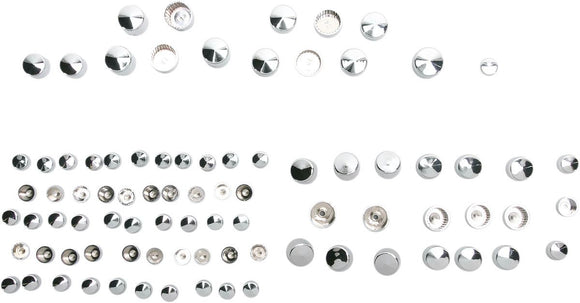 Drag Specialties Bolt Cover Kit Standard Chrome - Part #24010706 - Hogparts UK