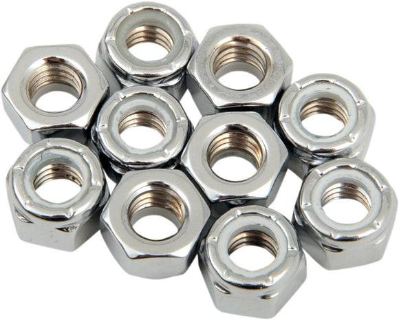 Drag Specialties Nylon Insert Nut 5/16-18 Chrome - Part #DS190526 - Hogparts UK