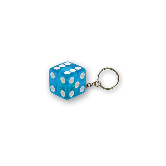 TRIKTOPZ DICE KEY CHAIN BLUE GLITTER - <br><br>Part #555532 - hogparts-uk.myshopify.com